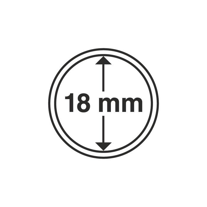 Расширенное описание для Капсула для монеты 18 мм, Leuchttur…